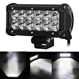 #3: AllExtreme 12 LED Fog Light / Work Light Bar Spot Beam Off Road Driving Lamp 36W CREE