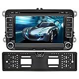 YINUO 7 Zoll 2 Din Android 5.1.1 Lollipop Quad Core Autoradio Moniceiver DVD GPS Navigation 7 Farbe Tastenbeleuchtung für VW/SKODA mit Rückseiten -Kamera