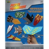 POOF-Slinky - Paper Squadron with Different Plane Sticker Designs and Art Paper Folding Tool, 16-Paper Airplanes, 2165BL by Poof