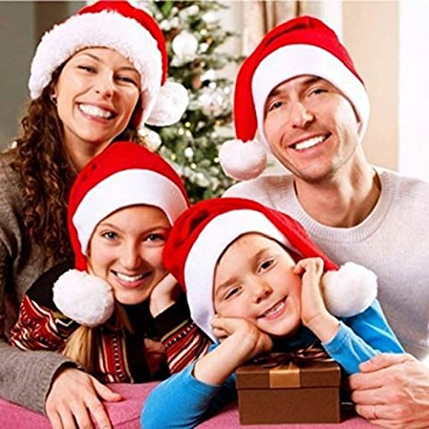 UmiTrend Heiße Weihnachtshüte Weihnachtsmütze-Dekoration-Hüte für Kinder Erwachsene