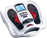 newgen medicals Fussmassagegerät: Fußreflexzonen-Reizstrom-Massagegerät mit Infrarot-Tiefenwärme (Fußreflexzonenmassagegeräte)