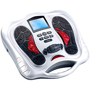 newgen medicals Fußmassagegerät: Fußreflexzonen-Reizstrom-Massagegerät mit Infrarot-Tiefenwärme (Fußreflexzonenmassagegeräte)
