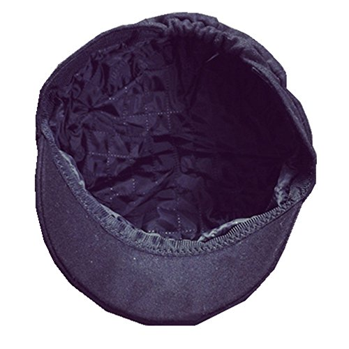 Lawevan Unisex Women Cute Cat Ears Worsted Cap Flat Hat Noir