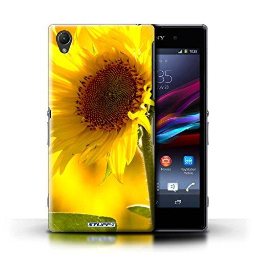 Kobalt® Imprimé Etui / Coque pour Sony Xperia Z1 / Clair Rose conception / Série floral Fleurs Fleur jaune