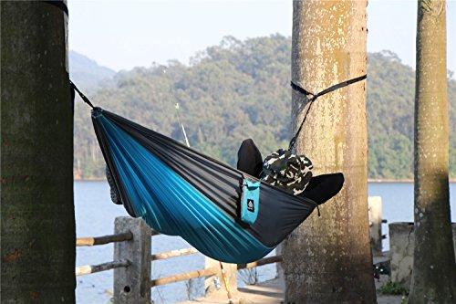 NatureFun Ultra-Leichte Tragbare 100% Fallschirm-Nylon Reise Camping Hängematte mit 300kg Kapazität - 5