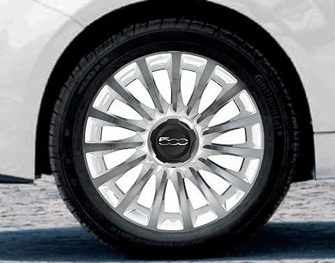 'Fiat 500L été original complet Kit roues étoile Blanc de rayon d'action Cut 17Continental