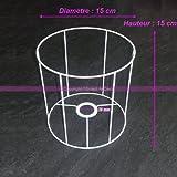 Gestell weißer für Runder Lampenschirm, Höhe und Durchmesser 15cm