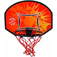 Sure Shot Kids - Canasta de baloncesto para niños, color naranja, negro y rojo