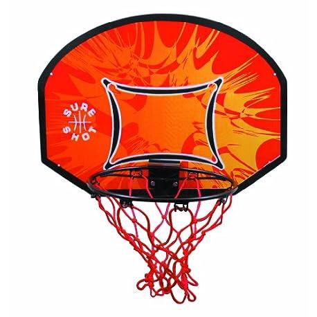 Sure Shot Kids Canasta de baloncesto para ni os color naranja negro y rojo