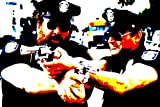Bud Spencer und Terence Hill–Bild moderne handbemalt–Pop Art Effect (Format 90x 60cm)