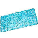 TrAdE shop Traesio Teppich Rutschfeste Schale mit Steinen gummiert 36x 70cm Steine UND Steine