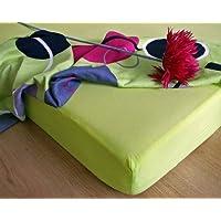 JERSEY drap-housse 140x200 limonène vert! qualité excellente! fabriqué en UE!