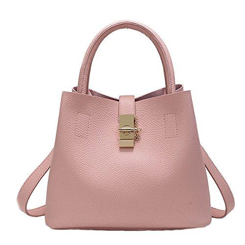 Tasche Bags Loveso Damen Mode Elegante Mini Henkeltaschen Umhängetasche Satchel Handtaschen Taschen PU-Leder Handtasche Schultertaschen Mehrfach Taschen (Rosa) -
