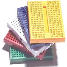 HiLetgo 5pcs SYB-170 Mini Breadboard Colorful Breadboard Small Plates [Office Product]