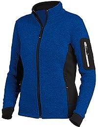 FHB Strickfleece Jacke atmungsaktiv, Farbe:kornblau;Größe:S