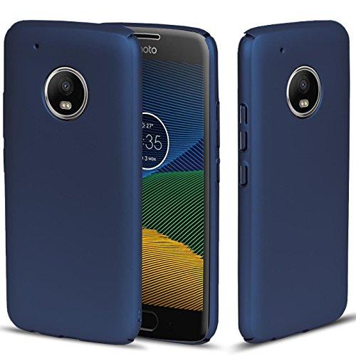 CoolGadget Blau Matte Motorola/Lenovo Moto C Plus PC Hülle, Ultra-Slim (0,5mm Dicke), Perfekter Schutz vor Staub und Schmutz, Moto C Plus Basic Cover