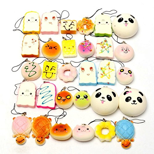 REALACC 10Pcs Casuale Squishy Soft Panda /