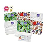 Bambino Mio Miosolo Reusable Onesize Nappy Set with Adjustable Poppers and Velcro Style Fastenings