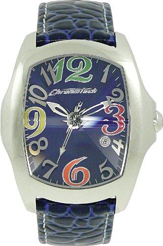 Chronotech orologio analogico quarzo uomo con cinturino in pelle ct7896m-63