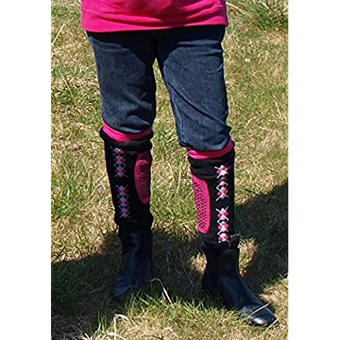 Nellie O 'neils Chaps calcetines para hombre, hombre, color negro/rosa, tamaño large