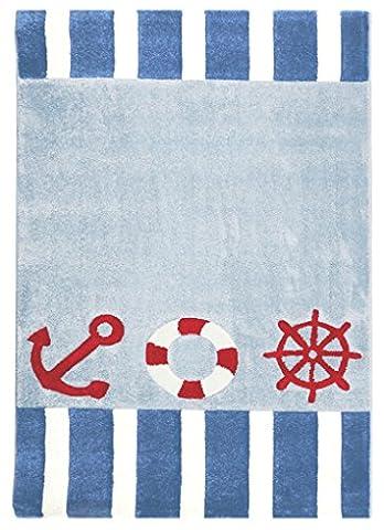 Kinderteppich Happy Rugs AUF HOHER SEE 4 blau 120x180cm
