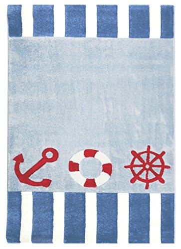 Auf Einem Acryl-teppich (Kinderteppich Happy Rugs AUF HOHER SEE 4 blau 120x180cm)