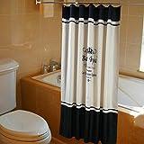 Royal Crown modello a prova di muffa poliestere tessuto tenda da doccia con 12ganci, Poliestere, Blue, 180X180CM