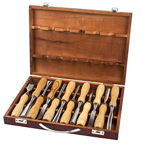 Schnitz Werkzeug Set 12-tlg. Beitel Holz Bearbeitung Schnitzeisen Satz Schnitzmesser
