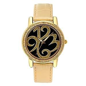 Time100 Ladies Creative Personalized Diamond Brown Strap Watch #W80013L.01A