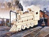 Holzbausatz Lokomotive / Dampflok