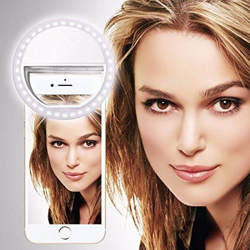 i-Tronixs Motorola Moto X4 (weiß) Clip auf Selfie Ring-Licht [Große Fotografie] mit 36 ??LED für intelligentes Telefon Kamera runder Form