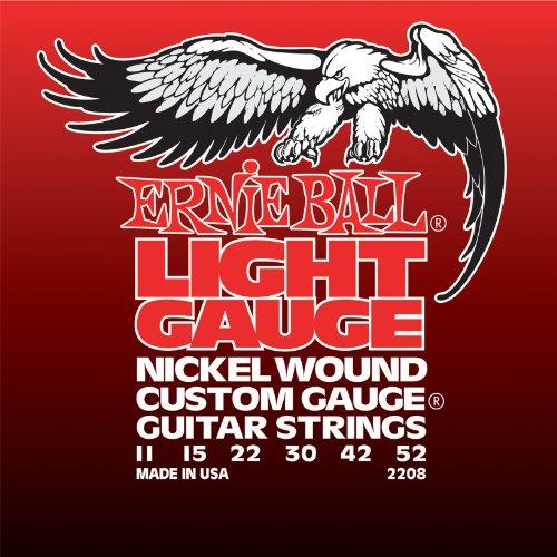 Ernie Ball Light Nickel Wound w/wound G Cuerdas para guitarra eléctrica - 11-52 Calibre