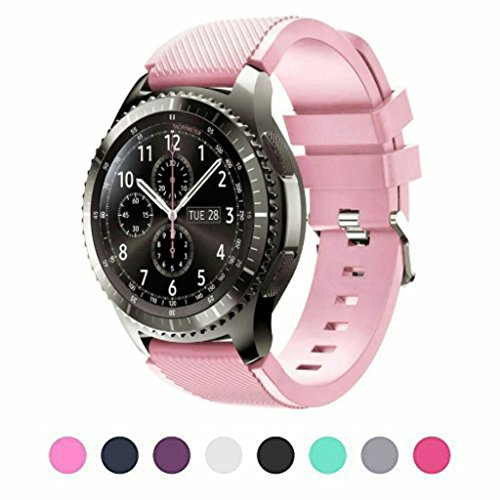 sunface-samsung-gear-s3-frontier-classic-s3-watch-armband-erroten-rosa-silikon-sportarmband-uhr-band