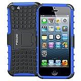 Pegoo Coque iPhone 5, Housse Antichoc Armure Protection Housse Coque Etui avec...