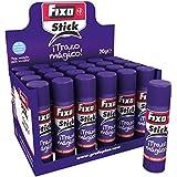 Grafoplas Fixo Stick Mágico - Pegamento barra, 24 unidades, 20 gr, color morado