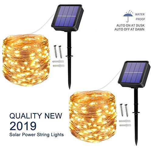 [2 Pack] Solar String Lights, 10...