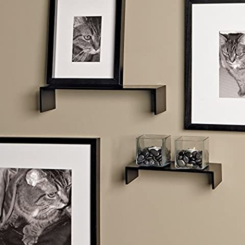 nexxt Extense Series Black Accent Shelves with Distinctive Thin Profile, Set of 2 by nexxt