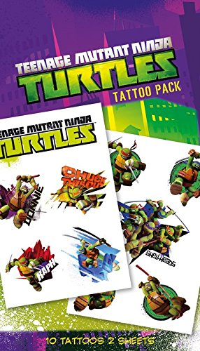 (GB Eye Teenage Mutant Ninja Turtles, Shellheads Tattoo Pack, mehrfarbig)