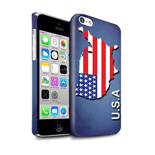 STUFF4 Glanz Snap-On Hülle / Case für Apple iPhone X/10 / Australien/Australian Muster / Flagge Land Kollektion Amerika/Amerikaner/USA