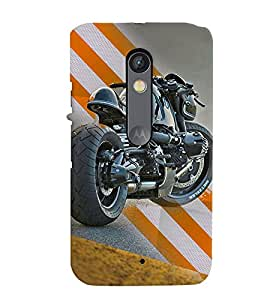 Fuson Premium Ready To Race Printed Hard Plastic Back Case Cover for Motorola Moto X Play