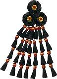 Mosquero schwarzes Pferdehaar auf einer rot/gelb/roten Nylonbasis