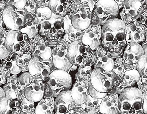 MST-DESIGN Wassertransferdruck Folie I CA-R-018 I Totenköpfe Skulls I 1 Meter x 50 cm I Lackieren Lackierzubehör I Hydrographics VEREDELUNG WTD WTP