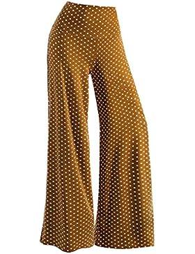 beautyjourney Pantalones casuales de las mujeres, Pantalones elegantes slim fit Punto de impresión Pantalones...