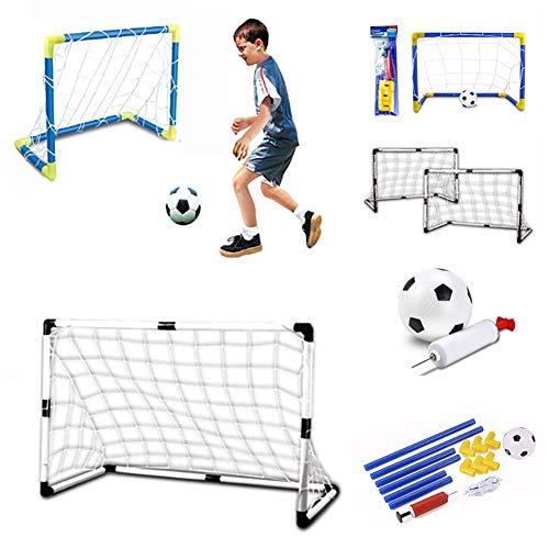 Ukallaite Spielzeug Geschenk Fußball Spielzeug Mini Aufblasbare Fußball Fußball Torpfosten Net Set Kinder Indoor Outdoor Spiele Spielzeug Andere Sportarten