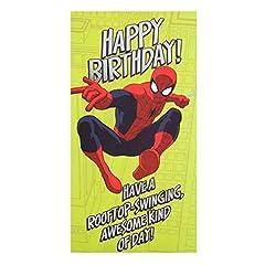 Idea Regalo - Hallmark - Biglietto di auguri di compleanno a tema Spiderman con testo in inglese
