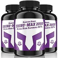 Preisvergleich für 3x TRIBU-MAX-2000 = 720 Tabletten für 180 Tage Versorgung | Hardcore Series Hochdosiert | Ultra High Saponin 90%...