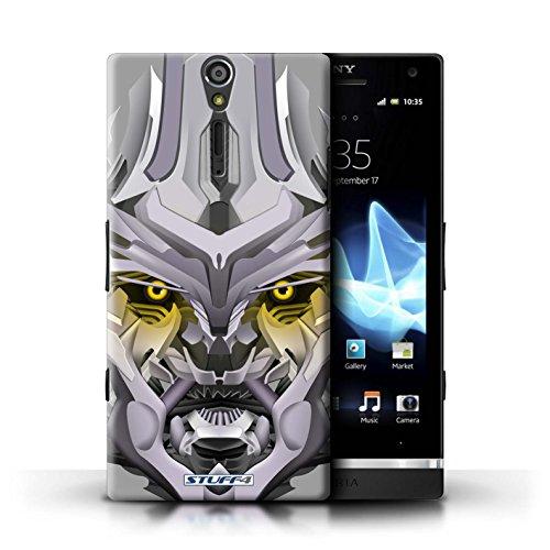 Kobalt® Imprimé Etui / Coque pour Sony Xperia S/LT26i / Bumble-Bot Vert conception / Série Robots Mega-Bot Jaune