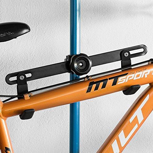 Fahrradaufhängung Fahrradwandhalterung Fahrrad Halterung Fahrradmontageständer 1 Stück (Weiß, Haltererung Single)