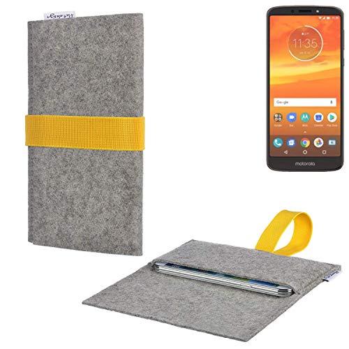 flat.design Handy Hülle Aveiro für Motorola Moto E5 Plus Dual-SIM handgefertigte Filz Tasche für Motorola Moto E5 Plus Dual-SIM