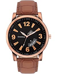 GRANDLAY MG-3065 BLACK DIAL WITH DATE AND TIME AUTHENTIC WATCH FOR MENZ